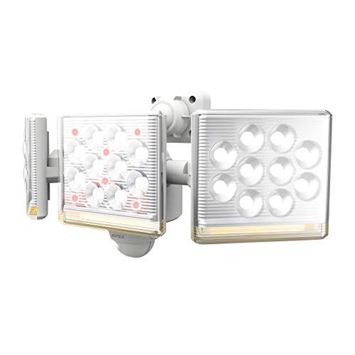ムサシ RITEX フリーアーム式高機能LEDセンサーライト(12W×3灯) 「コンセント式」 LED-AC3045 ホワイト