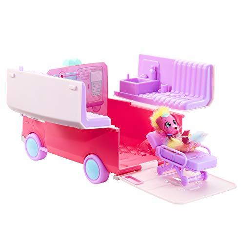 Little Live Scruff Surprise Pet Rescue Ambulance Spielset Miniatur-Sammelspielzeug mit exklusivem Wursthund