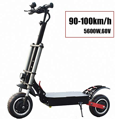 FZ FUTURE Elektroroller Scooter, klappbarer E-Scooter, bis zu 90-100 km/h, Stärkster 5600W, Einfach zu Falten und zu tragen Design, LCD-Anzeige LED Scheinwerfer,für Erwachsene,35AH85KM