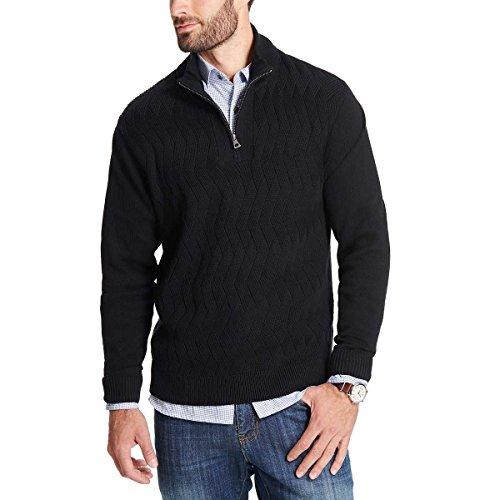 Weatherproof Men's ¼ Zip Sweater (XL, Black)