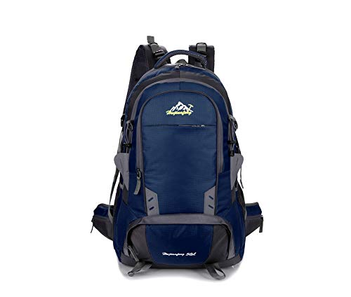 50L Hiking Backpack Waterproof Backpack Outdoor Sports Backpack Travel Hiking Camping Backpack Bicycle Bag Best Holiday Gift,Darkblue