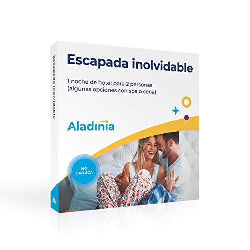 ALADINIA Caja Regalo Experiencias Escapada Inolvidable para Dos Personas con Validez Ilimitada | Más de 160 Opciones a Elegir en España y Andorra (1 Noche)