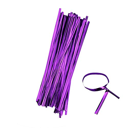 Leline's Metallic Twist Ties, 800pcs 6'' Bag Ties, Cable Tie for Candy Bag, Cello Treat Bag, Christmas Party Decoration