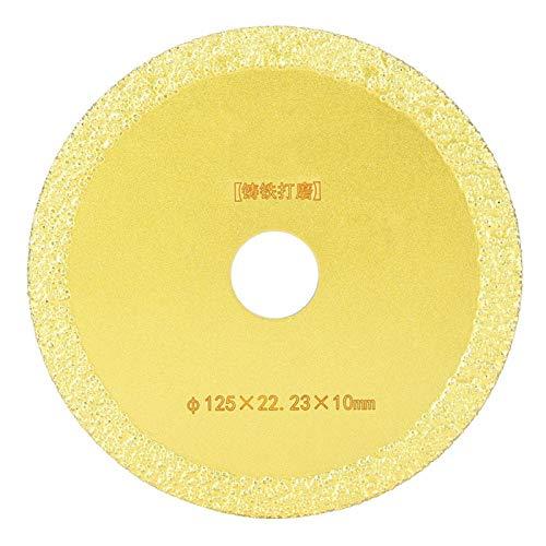 Disco de diamante Material duradero Afilado 0,9 pulgadas de diámetro interior Disco de corte de diamante Hoja de sierra de diamante Hoja de diamante, para cortar(125 * 22.23 * 10mm)