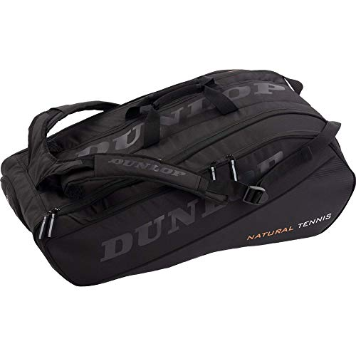 Dunlop Sports Nt 12 Racket Bolsa de Gimnasio, Unisex Adulto, Negro/Negro, Size