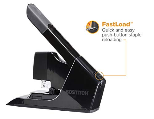 Bostitch EZ Squeeze 130 Sheet Flat Clinch Heavy Duty Stapler, Reduced Effort, Black (B8130) Photo #7
