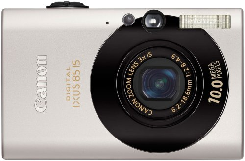 Canon Digital IXUS 85 IS Digitalkamera (10 MP, 3-fach opt. Zoom, 6,4cm (2,5 Zoll) Display, Bildstabilisator) schwarz