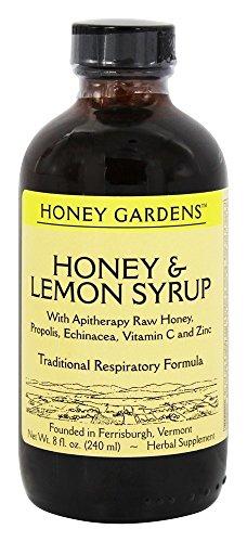 Honey Gardens Syrup - Honey & Lemon, Syrup (Btl-Plastic) | 8oz