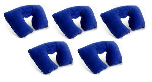 Reiseziele aufblasbares Reise Hals pillow- Set von 5