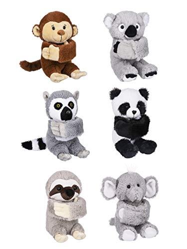 Ganz H14616 Super Cute Slap Pals Jungle Zoo Animal Wrist Bands Animal Slap Bands (6 Assorted Multipack)
