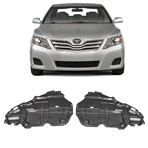 Autoelementss New Engine Splash Shield Under Cover Left Driver Side + Right Passenger Side Plastic for 2007-2011 Toyota Camry Direct Replacement 5144206100 5144106110