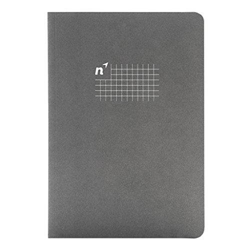 Northbooks USA Eco A5 Graph Paper Notebook/Ledger | Notepad for School, Work, Travel or Personal Use | 144 Sewn 5mm Square/Grid/Gridded Pages, Premium Recycled Cream Paper | 5.8 x 8.2 inch