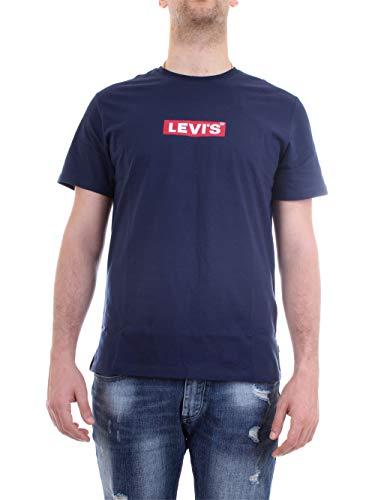 Levi's Graphic tee Camiseta, Azul (Boxtab SS T2 Dress Blues 0001), Medium para Hombre