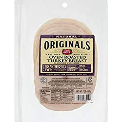 Dietz & Watson Originals Pre-Sliced No Antibiotics Ever Oven Roasted Turkey Breast, 7 oz