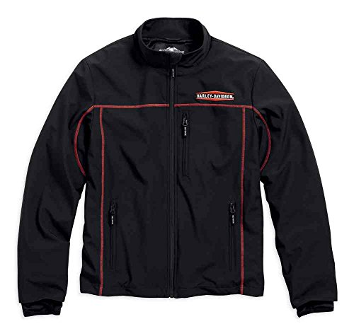 Harley-Davidson Men's Anton Windproof Mid-Layer Casual Jacket, Black 98575-16VM (X-Large)
