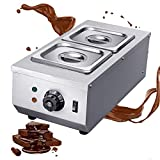 Huanyu Commercial Chocolate Tempering Machine 2 Tanks 9lbs Professional 30~80°C Chocolate Melter...