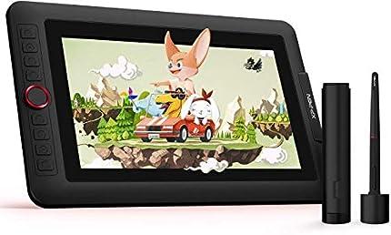 XP-Pen Artist 12 Pro Tableta Gráfica de Dibujo Digital con Teclas de Atajo y un Dial Rojo Viene con el Último Software de Dibujo de OpenCanvas 7 o ArtRage 5