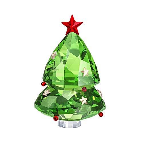 Swarovski - Árbol de Navidad (Cristal, 6,5 cm), Color Verde