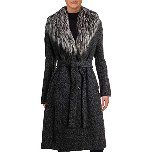 Ivanka Trump Womens Winter Boucle Coat Black 4
