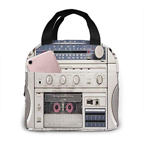80s Boombox Stereo Lunchbag for School, Office etc.