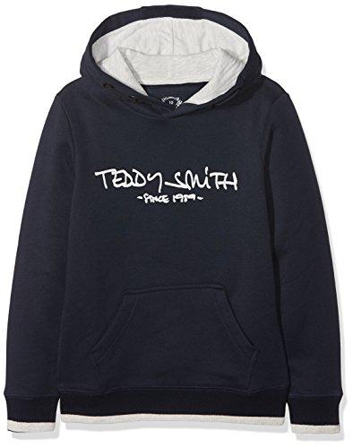 Teddy Smith SICLASS HOODY J Sweat Garçon, Bleu (Dark Navy 35