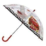 Disney Stick Umbrella McQueen | in red & Transparent Cars | Children Umbrella