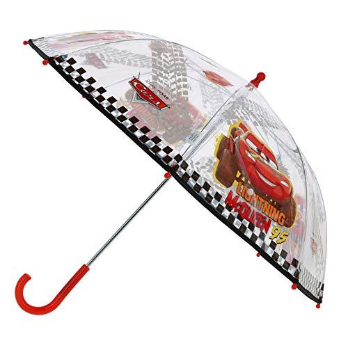 Disney Stockschirm McQueen | in rot & transparent Cars | Kinder Regenschirm