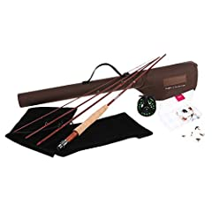 AMAZING FLY ROD. The rod comes with high-quality stainless steel, single foot, snake guides and carbide stripper guides with stainless steel frames. Stainless steel Hook Keeper will allow for easy storage of fly. AA+ high-grade cork grip allows for e...