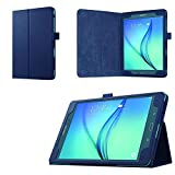 Asng Samsung Galaxy Tab A 8.0 2015 Case - Slim Folding Cover Case with Auto Wake/Sleep and Stylus Pen Loop for Galaxy Tab A 8.0 Tablet SM-T350 2015 Release (NOT FITS 2017 Tab A 8.0) (Drak Blue)