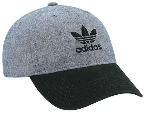 adidas Originals Women's Relaxed Adjustable Strapback Cap, Blue Chambray/Black, One Size