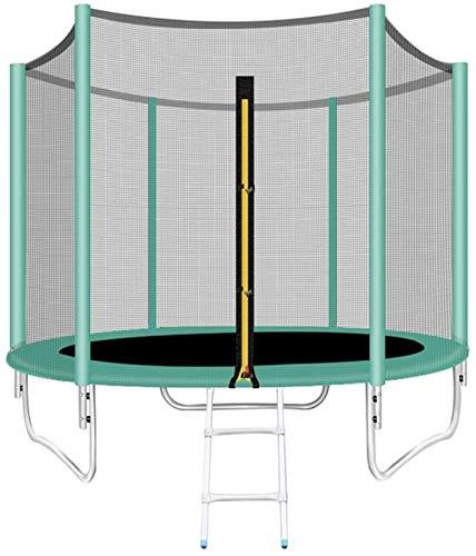 Mopoq Kinder Trampolin, 8-Fuß-High-Trampolin mit Sicherheitsnetz und Leiter - Ideal im Freien Garten-Trampolin for Kinder-Geburtstags-Geschenke - Grün