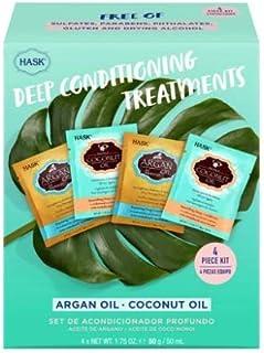 Hask Deep Conditioning Treatments Argan & Coconut Oil 4 Pack Set