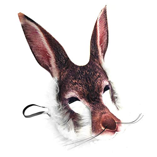 Fancy Dress VIP Realistisch Gesicht-maske Buchwoche Tier Zoo Dschungel Wald Creature Karneval Gesichtsmaske für Erwachsene und Kinder - Rabbit Hare