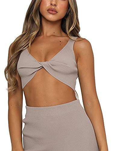Camisola de 2 piezas para mujer, sexy, con correa de espagueti, bodycon largo para club