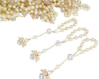 26 Pc San Joaquin Creations Ivory Color Baptism Favors with Angels Mini Rosaries Gold Plated Acrylic Beads/Recuerdos De Bautizo/Christening Favors/Decenarios/Communion Favors/Finger Rosari