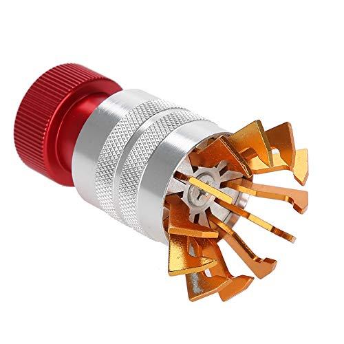 Removedor de gafas de reloj, acero al cromo-vanadio, herramienta de reparación de reloj de inserción, eliminación de cristales, antideslizante, profesional, para relojero y reparador de relojes(rojo)