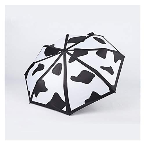 Mjwlgs Parapluie Spot de Vache Noir et Blanc Parapluie lumiè