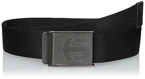 Etnies Herren Gürtel schwarz Black (Black/Grey) 32 cm (Manufacturer Size:One Size)