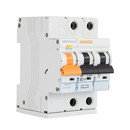 LEDKIA LIGHTING Protector Combinado Sobretensiones Permanentes 2P 25 A2