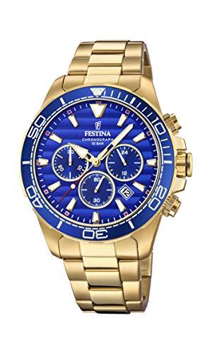 Festina Herren Chronograph Quarz Uhr mit Edelstahl Armband F20364/2