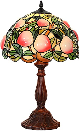 Lampada da tavolo in stile Tiffany a mano in vetro colorato lampada da pesca lampada da pesca per la base del comodino anticato per soggiorno camera da letto camera da letto cofe bar artigianale regal