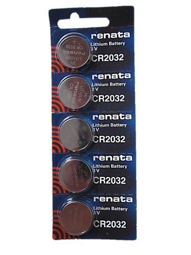 5 x Renata CR2032 Lithium Batterien