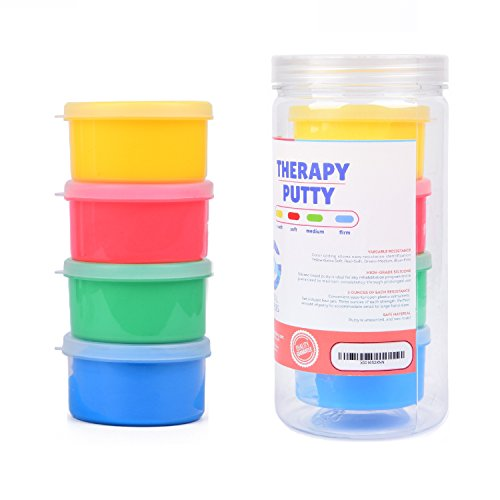 Special Supplies Therapy Putty for Kids and Adults - Resistive Hand Exercise Therapy Putty Kit, Set of Four Strengths, 3 Ounces of Each Putty