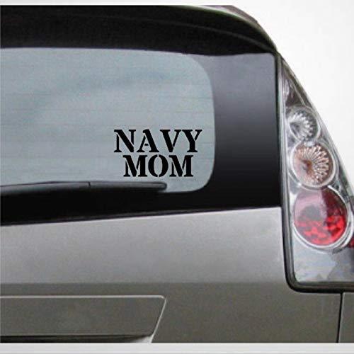 Navy Mom Auto Sticker,Vinilo adhesivo para coche, decoración para ventana, parachoques, portátil, paredes, computadora, vaso, taza, teléfono, camión, accesorios de coche