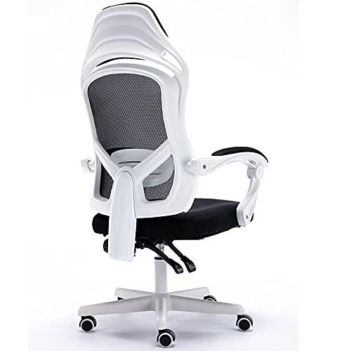 Bodycarewl Sedia Computer, Sedia ergonomica Ufficio con Schienale Alto, Altezza Regolabile, Sedia con Supporto Lombare Girevole a 360°, Dotata 5 Doppie Ruote piroettanti in Nylon, Facile da spostare