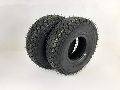 Rollstuhlreifen 2x 4.00-5 (330x100), 4 PR, schwarz, Blockprofil Reifen Rollstuhl Elektromobil, Scooter