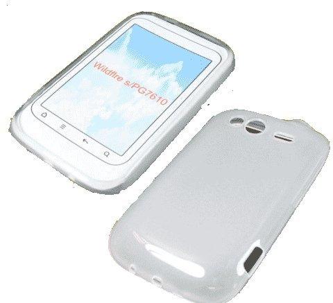 Funda de Silicona Accesorios Maestro TPU para HTC Wildfire S Blanca