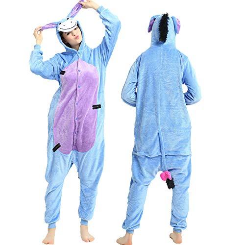 Pijama para Mujer Diseño De Animales Ropa De Casa para Dormir De Una Pieza, Disfraz De Cosplay para Fiesta Azul Morado Burrito