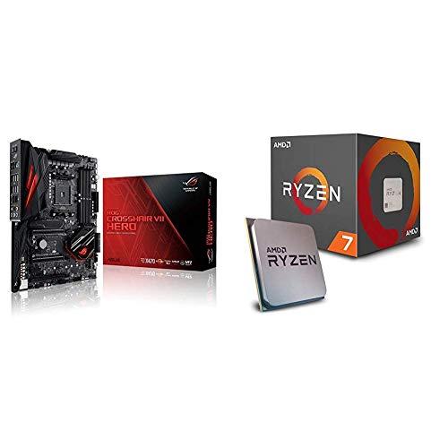 Pack Placa Base ASUS y Procesador AMD:ROG CROSSHAIR VII HERO y AMD Ryzen 7 2700X