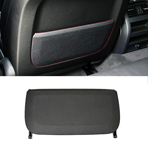 Jaronx For BMW Seat Backrest Pocket Cover, Genuine Leather Seat Back Storage Pocket Panel Cover Replacement for BMW 5 Series F10 F11 F07,BMW 7 Series F01 F02 (Black)